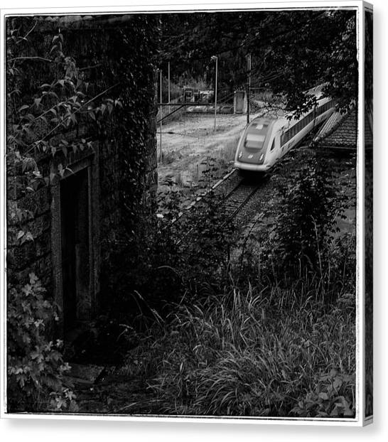 Trainspotting Canvas Print - Old And New by Daniel Kaufmann