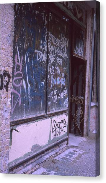 Old Bar, Old Graffitis Canvas Print