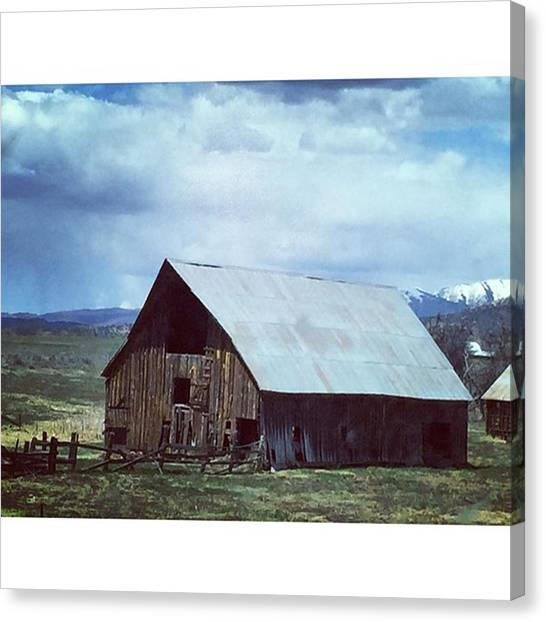 Barns Canvas Print - Old Barn #barn #roadtrip #durangoco by Joan McCool