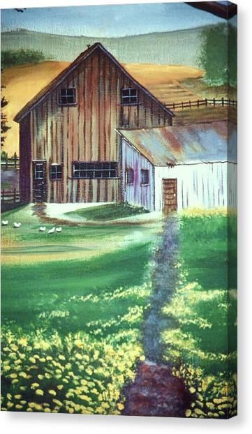 Old Barn Canvas Print by Eileen Blair