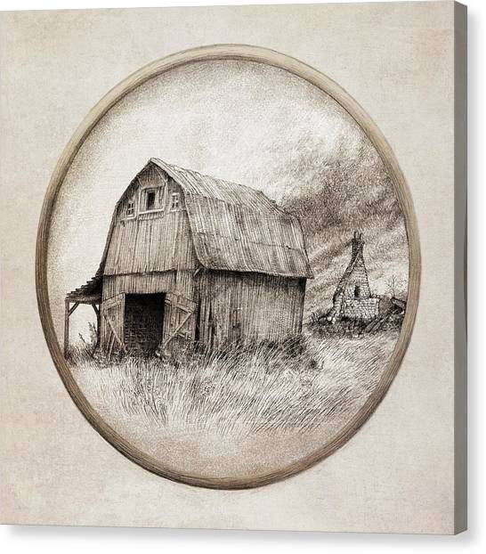 Sepia Canvas Print - Old Barn by Eric Fan