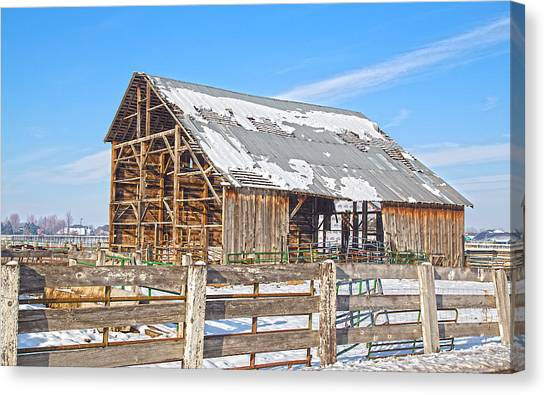 Old Barn In Idaho Canvas Print