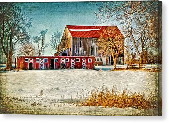 Old Barn On Forrest Road Canvas Print