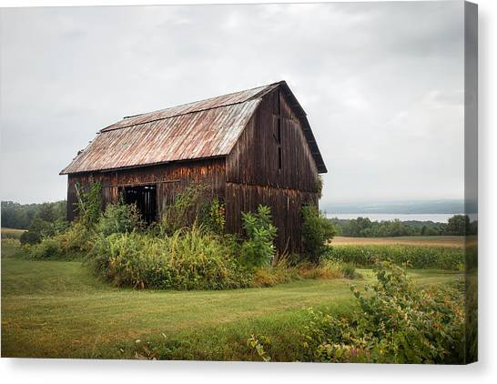 Old Barn On Seneca Lake - Finger Lakes - New York State Canvas Print