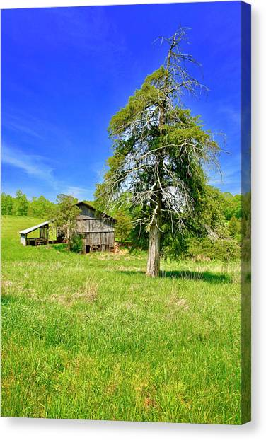 Old Barn, Smith Mountain Lake Canvas Print