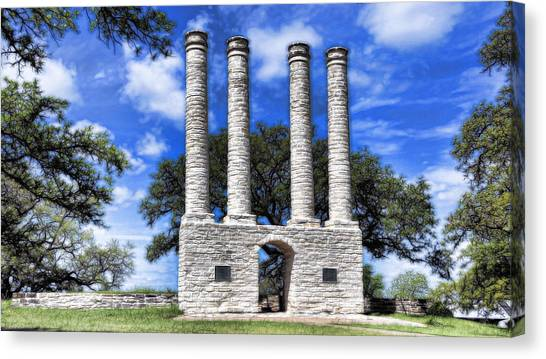 Baylor University Canvas Print - Old Baylor by Stephen Stookey