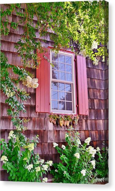Old Bethel Church Window Canvas Print