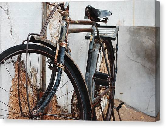 Old Bike II Canvas Print