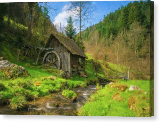 Old Black Forest Mill Canvas Print