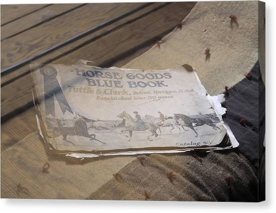 Old Blue Book Canvas Print by Viktor Savchenko