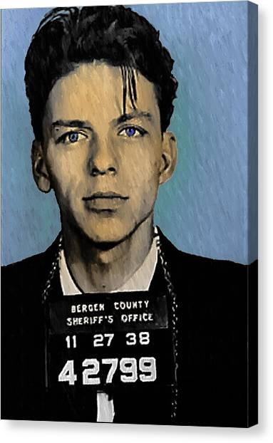 Old Blue Eyes - Frank Sinatra Canvas Print