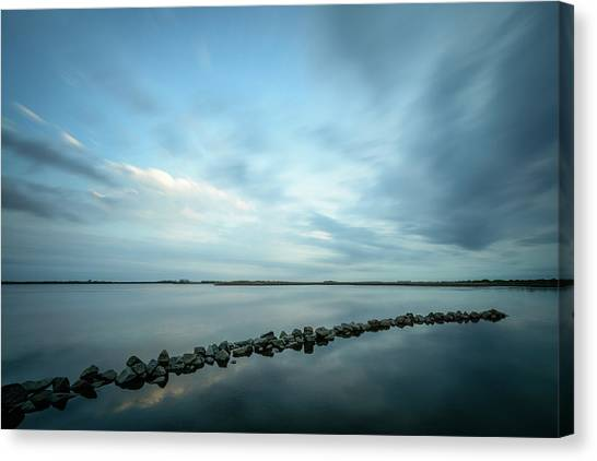 Old Blue Morning Canvas Print