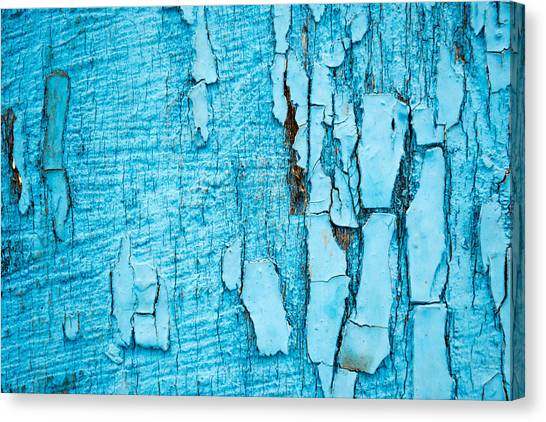 Old Blue Wood Canvas Print