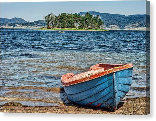 Lucky Canvas Print - Old Boat By Still Water by Lucky Chen