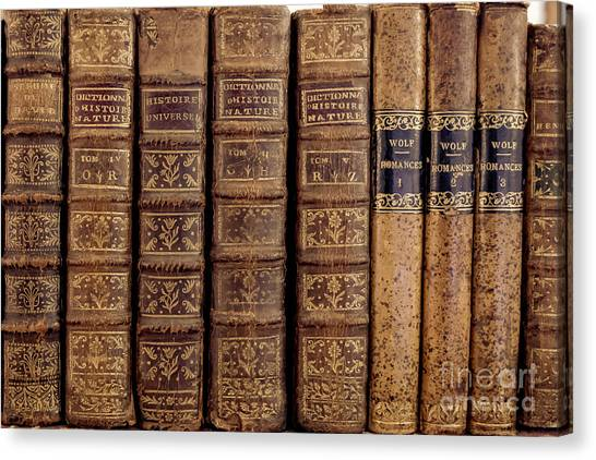 Reference Canvas Print - Old Books by Edward Fielding