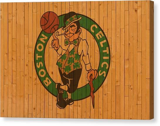 Celtic Art Canvas Print - Old Boston Celtics Basketball Gym Floor by Design Turnpike