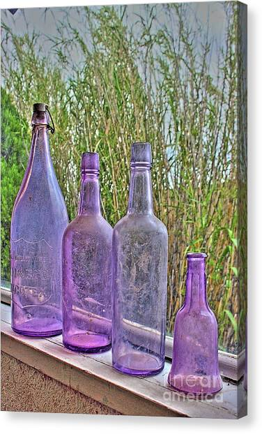 Old Bottle Collection Canvas Print