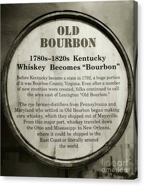 Kentucky Canvas Print - Old Bourbon by Mel Steinhauer