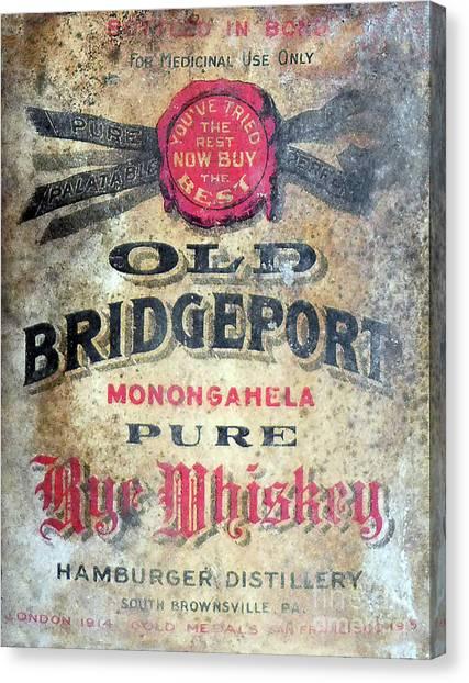 Hamburger Canvas Print - Old Bridgeport Rye Whiskey by Jon Neidert