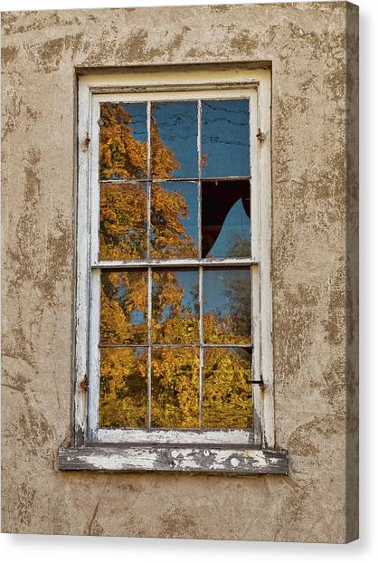 Old Broken Window Canvas Print