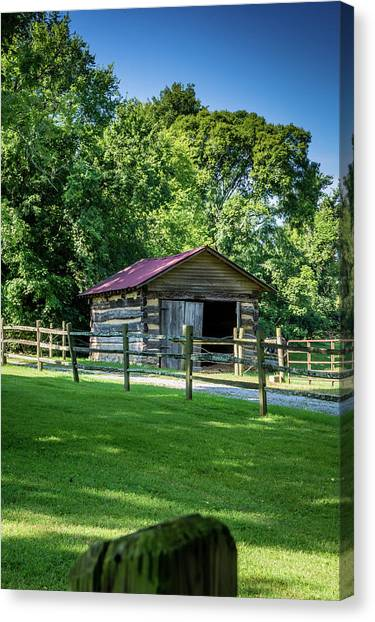 Canvas Print featuring the photograph Old Building - The Hermitage by James L Bartlett