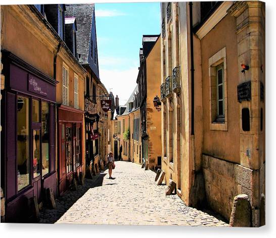 Old Buildings In France Canvas Print