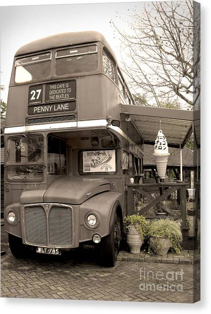 Old Bus Cafe Canvas Print