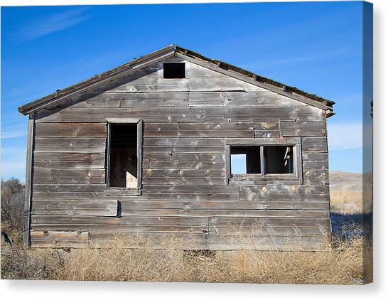 Old Cabin In Idaho, Usa Canvas Print