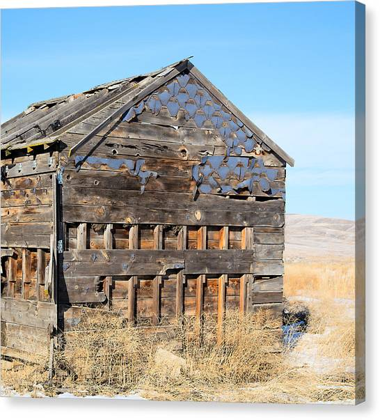 Old Cabin In The Desert Canvas Print
