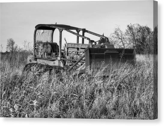 Bulldozers Canvas Print - Old Cat II by Ricky Barnard