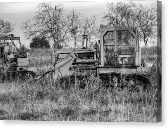 Bulldozers Canvas Print - Old Cat IIi by Ricky Barnard