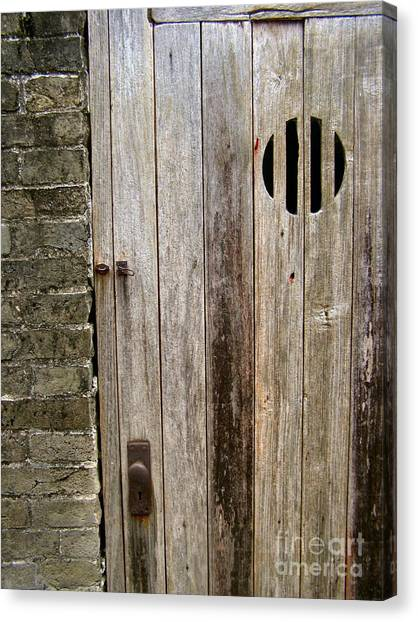 Old Chinese Village Door Series Fifteen Canvas Print by Kathy Daxon