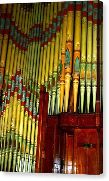 Old Church Organ Canvas Print