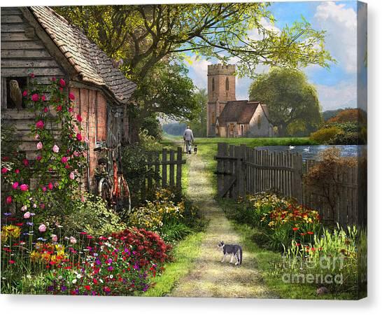Squirrels Canvas Print - Old Church Path by Dominic Davison