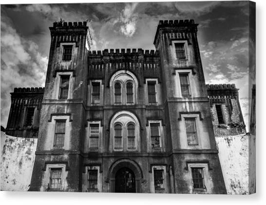 Taxes Canvas Print - Old City Jail by Drew Castelhano