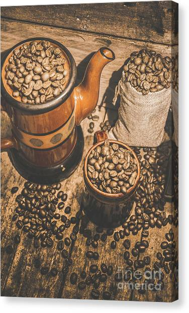 Caffeine Canvas Print - Old Coffee Brew House Beans by Jorgo Photography - Wall Art Gallery