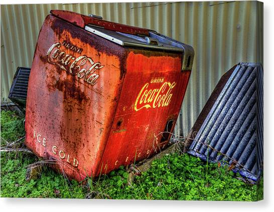 Old Coke Box Canvas Print