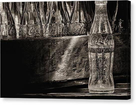Old Coke Sepia Canvas Print by JC Findley