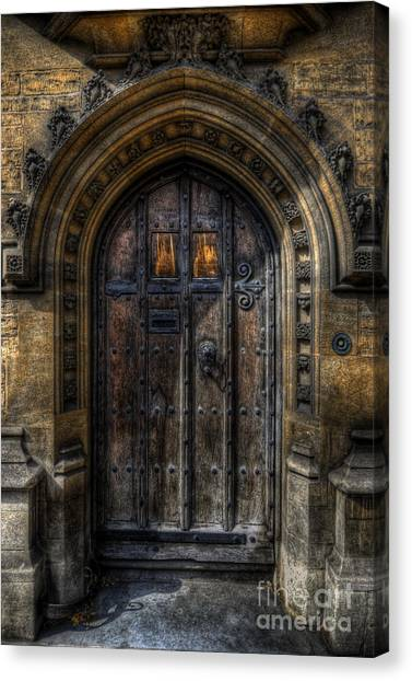 Old College Door - Oxford Canvas Print