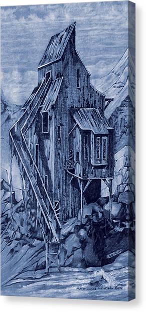Old Colorado Mine Canvas Print by Donn Kay