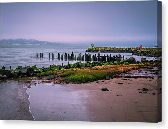 Old Columbia River Docks Canvas Print