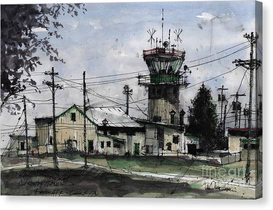 Air Traffic Control Canvas Print - Old Control Tower At Reese Afb by Tim Oliver