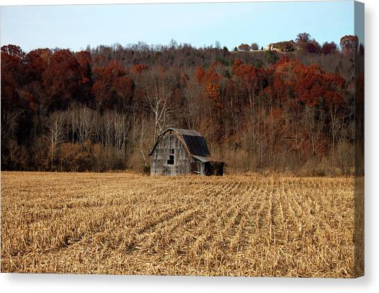 Old Country Barn In Autumn #1 Canvas Print