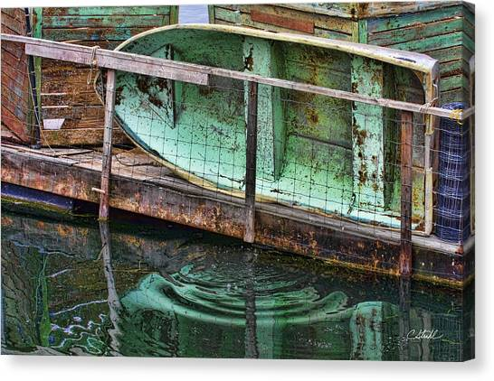 Old Crusty Dinghy Canvas Print