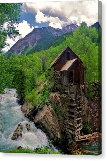 Old Crystal Mill Canvas Print