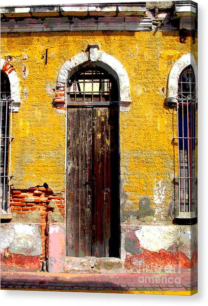 Old Door 2 By Darian Day Canvas Print by Mexicolors Art Photography