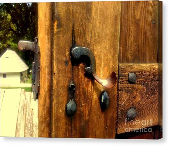 Old Door Handle Canvas Print