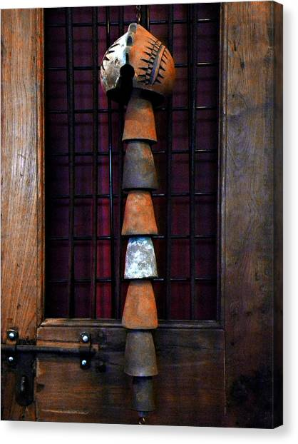 Wind Chimes Canvas Print - Old Door  by Julie Palencia