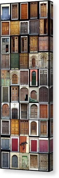 Old Doors Canvas Print by Frank Tschakert