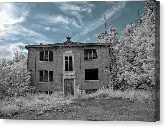 Old Edmonton High School Ir 2 Canvas Print